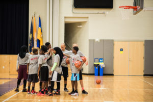 2016 Summer Basketball Academy - Students Preparing for Game